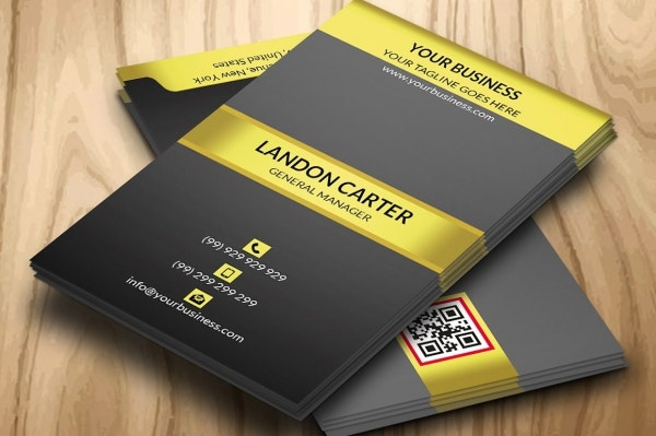 Black & Golden Minimal Business Card