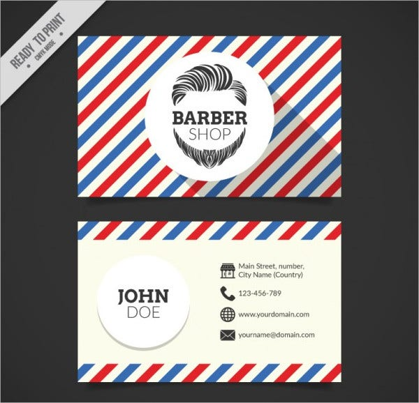 Personal Barber Shop Business Card
