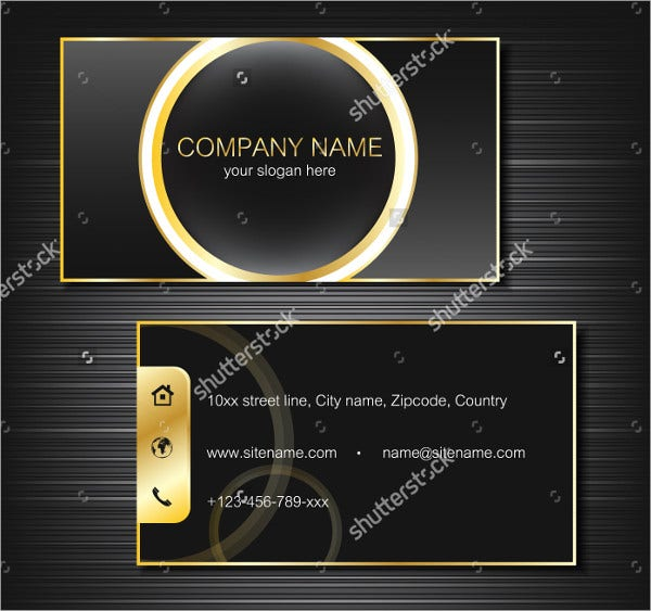 Personal Gold Lines Business Card