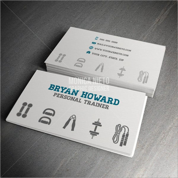 23 personal business cards free psd vector ai eps format personal trainer business card template friedricerecipe Images