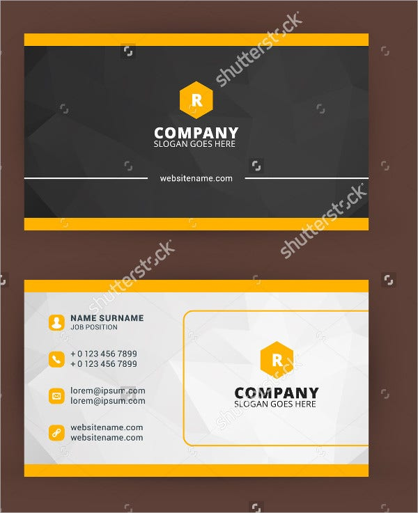 Vector Businees Cared Template
