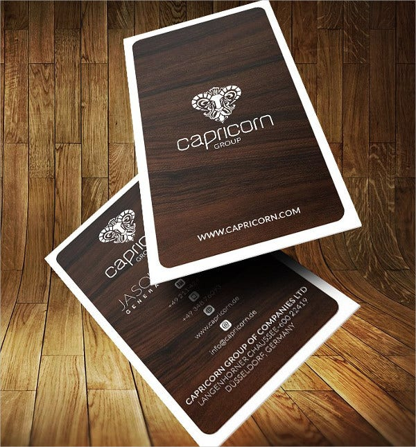 Wooden Style Business Card