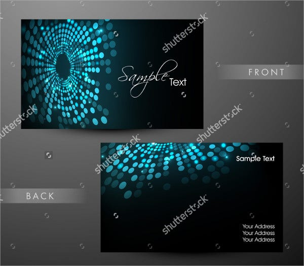 bright color professional business card