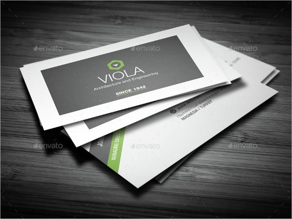 company business card
