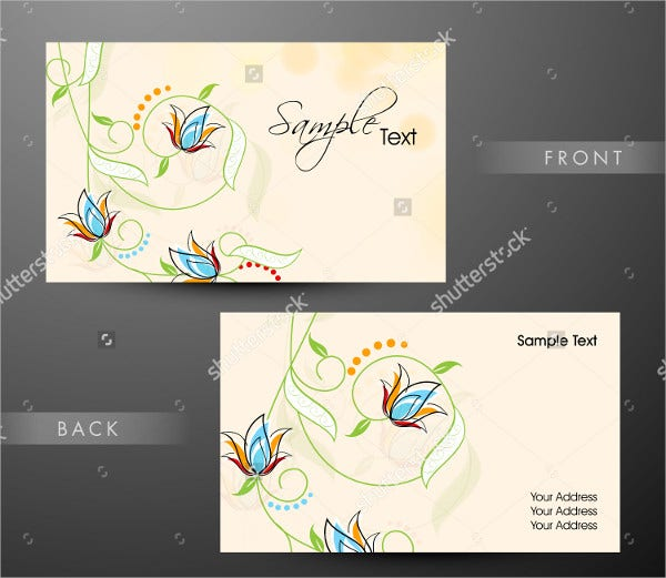 Floral Decorated Professional Card