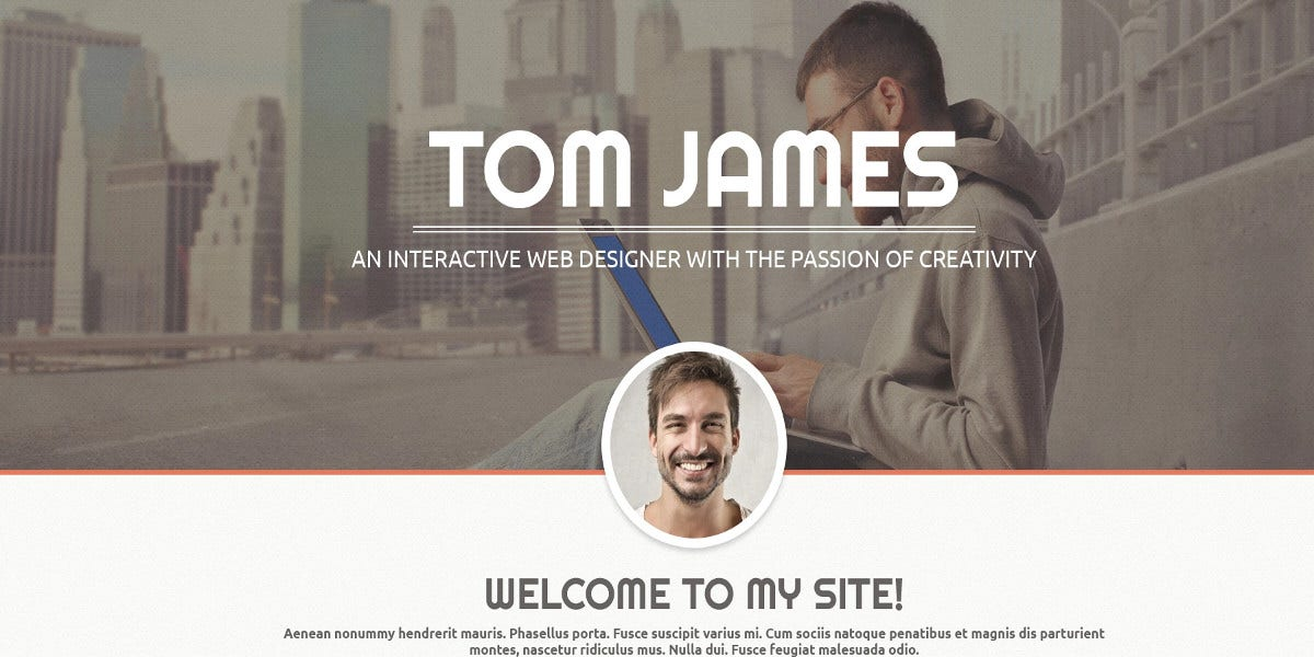 web designer cv wordpress theme 75 - Wordpress Resume Template