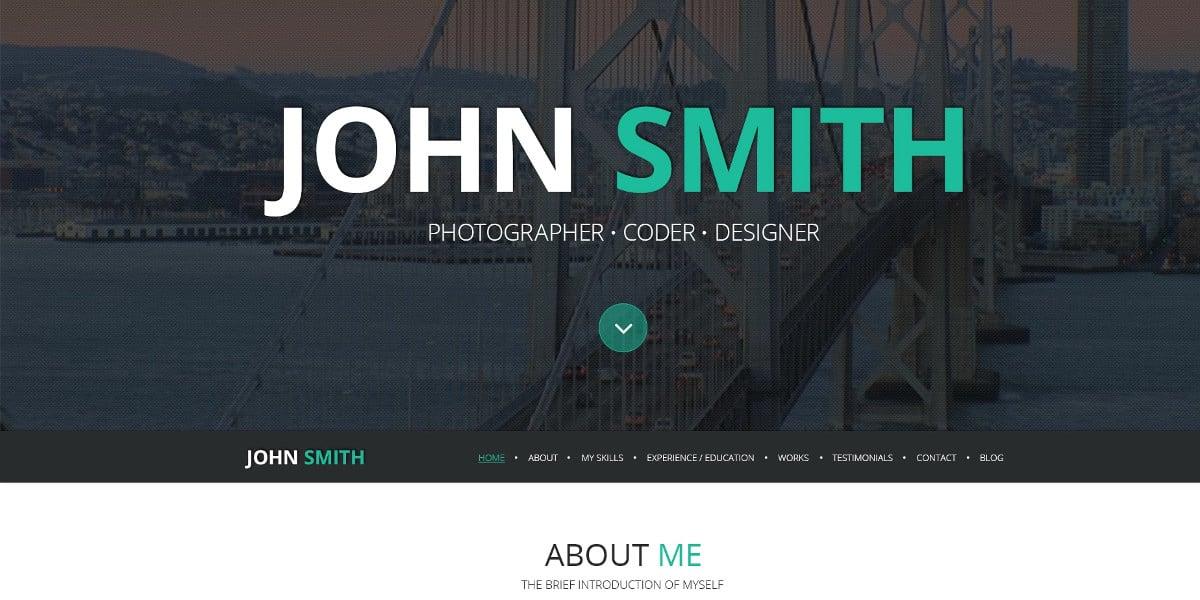 online resume wordpress theme 75