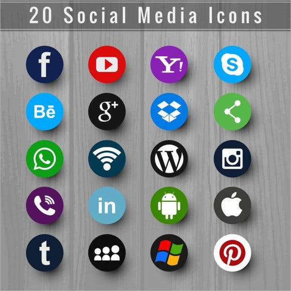 Beautiful social media icons