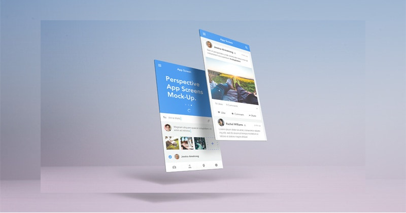 Simple Perspective App Screens Mock-Up