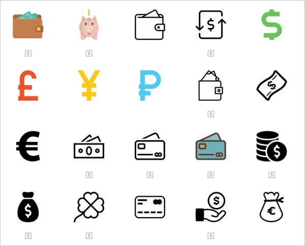 free vector money icons