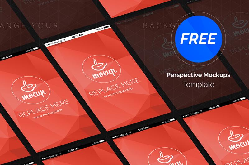 free perspective app mockup