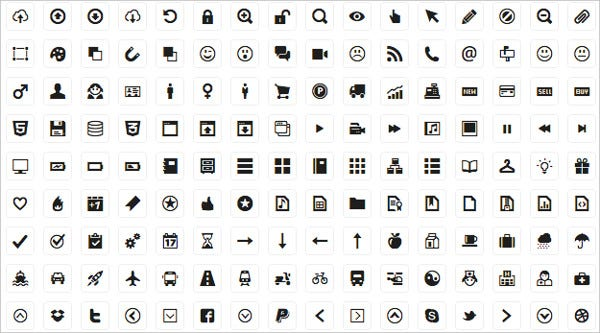 Universal 210 Web Design Icons