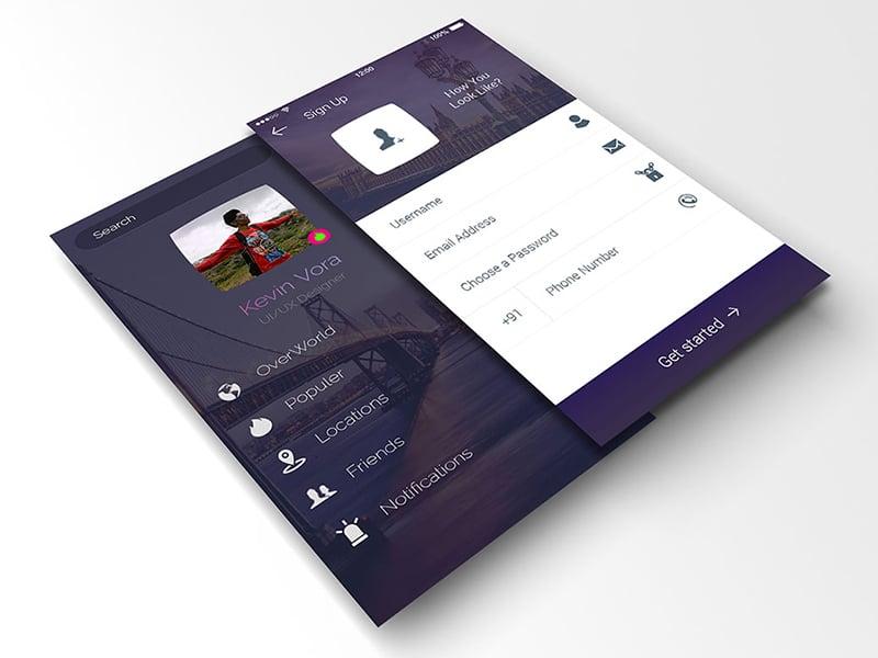 branding free psd app screen mockup