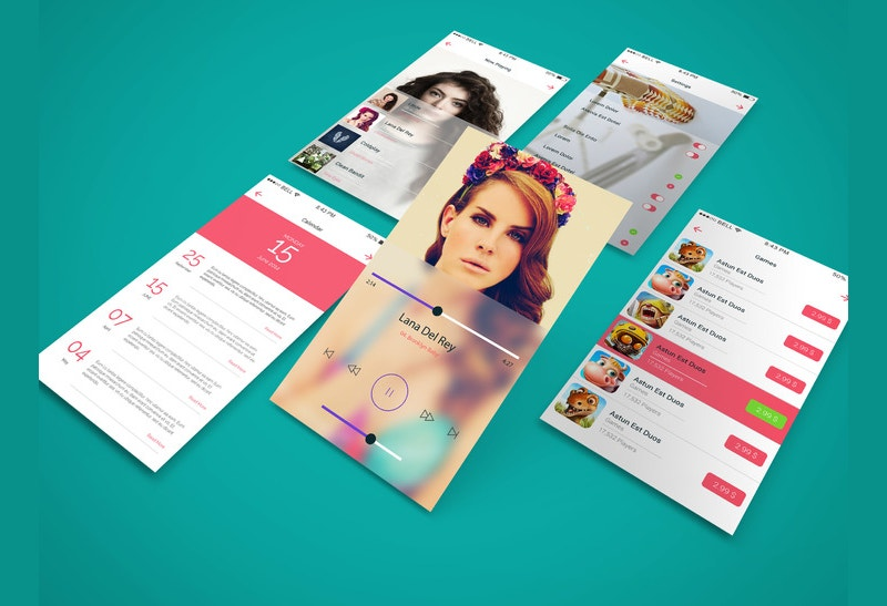 app screen showcase mockup design