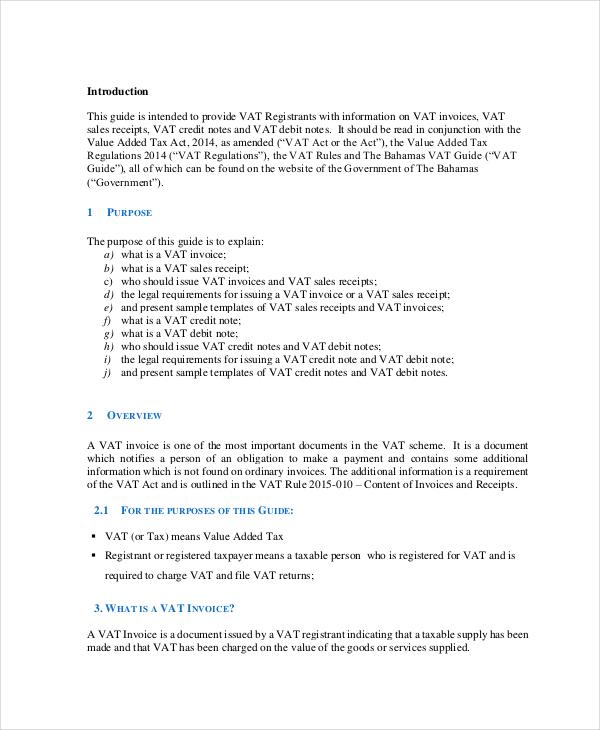 Vat Invoice Example Vat Invoice Format Vat Invoice Format  Free
