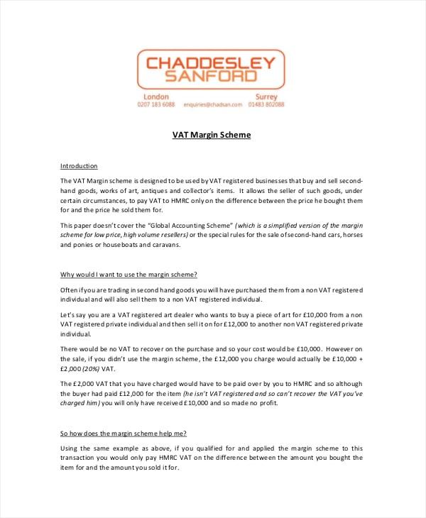 vat margin scheme invoice