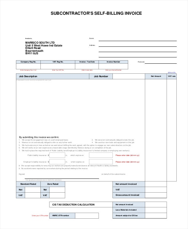 Vat Invoice 8 Free Pdf Documents Download Free Premium Templates