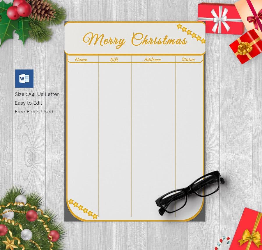 Special Christmas Gift List