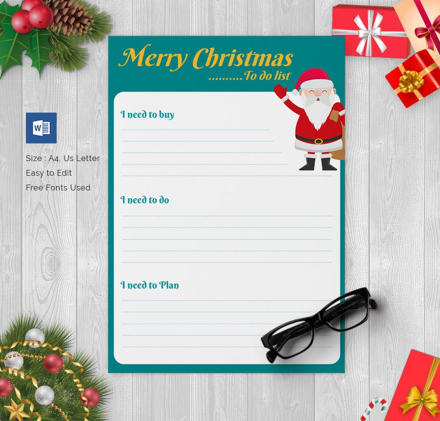Christmas Gift List Template Free Download
