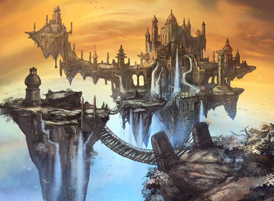 wisdom fantasy landscape illustration