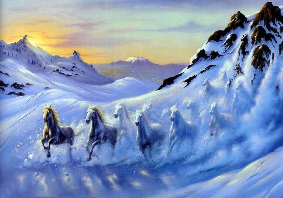 fantasy mountain landscape illustration
