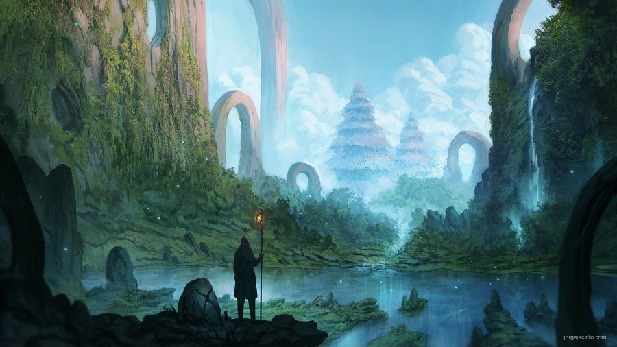 Fantasy Landscape Painting Illustration