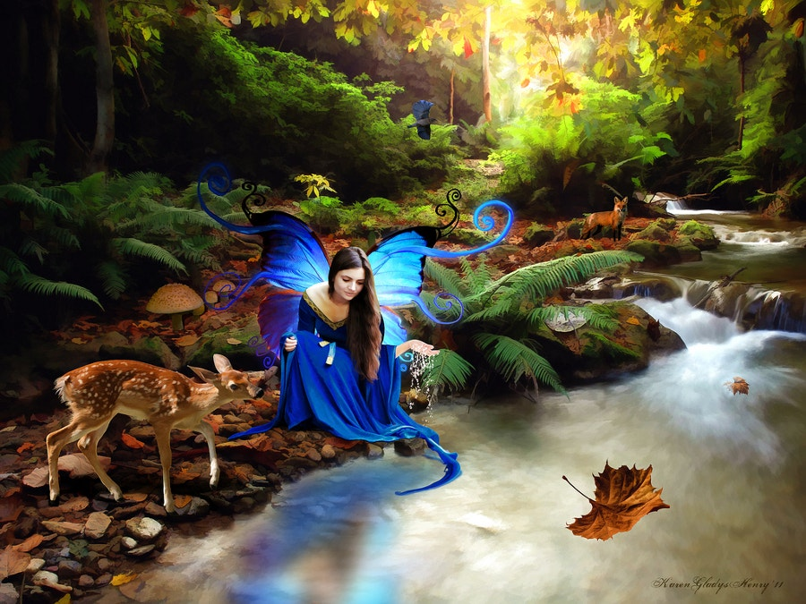 fantasy illustration of beautiful girl