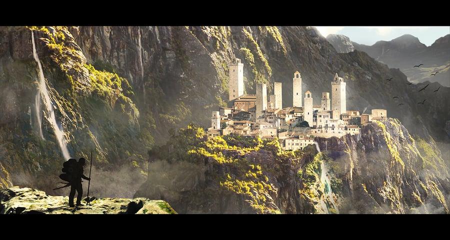 fantasy city landscape illustration