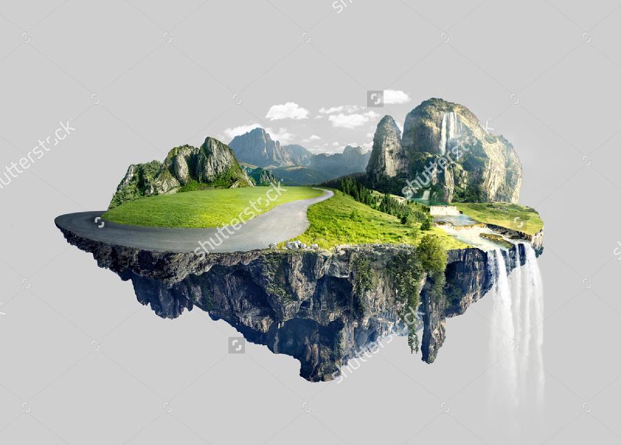 amazing island illustration