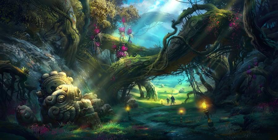 amazing fantasy landscape illustration