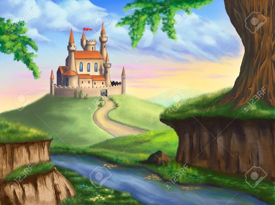 a fantasy castle illustration