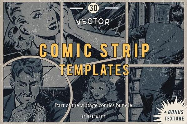 vector comic strip template