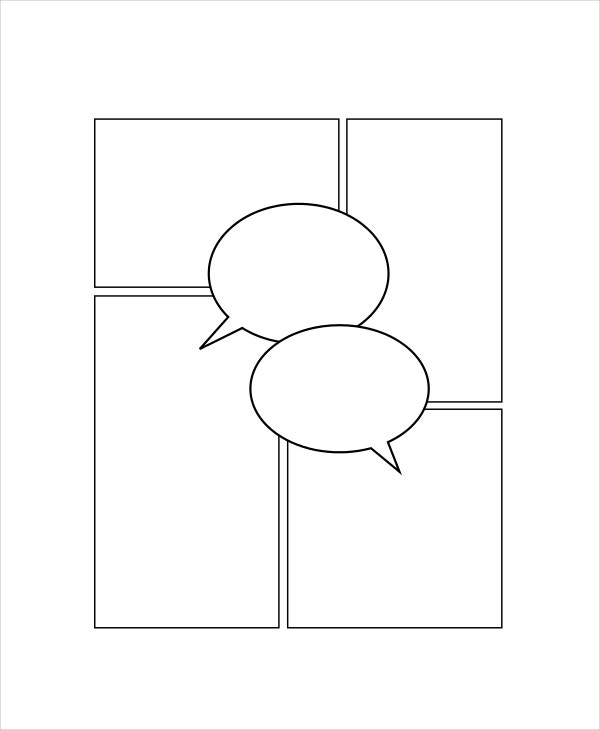 Printable Blank Comic Strip Template