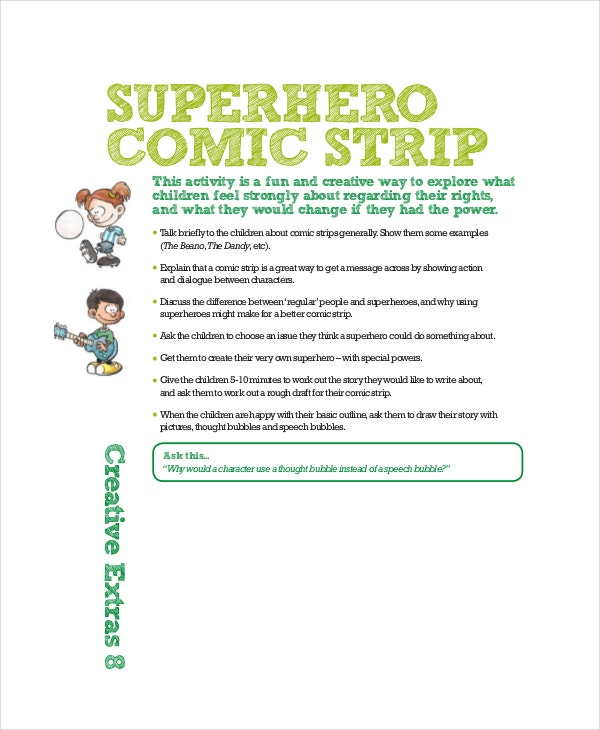 Superhero Comic Strip Template