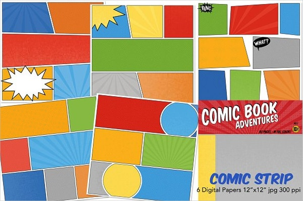 Comic Strip Digital Papers
