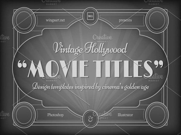 vintage hollywood movie template1