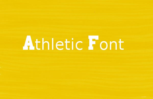 sports athletic use font