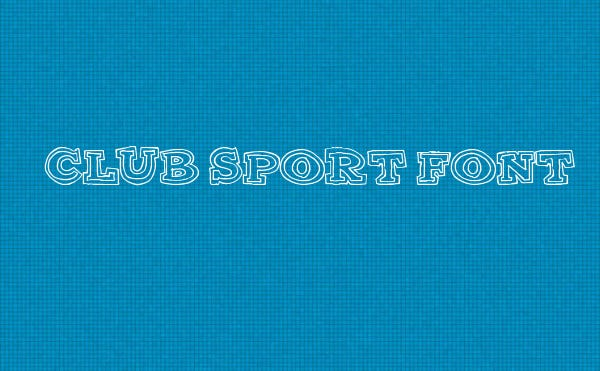 Sports Club Use Font