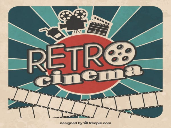 vintage retro cinema poster