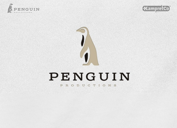 penguin logo graphic design