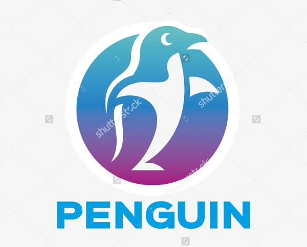 abstract penguin logo