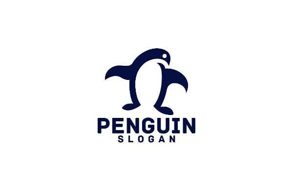designed penguin logo
