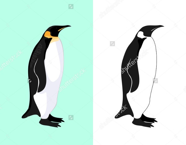 black and white penguin logo