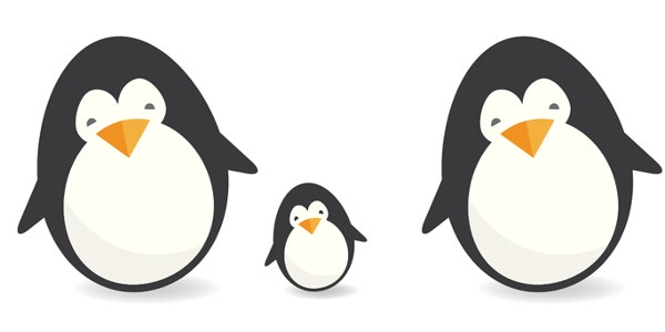 cute penguin logo design