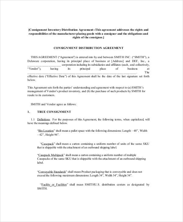 Consignment Agreement - 10+ Free PDF, Word Documents Download | Free ...