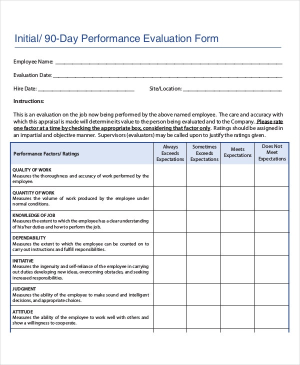 Good Employee Monthly Review Template