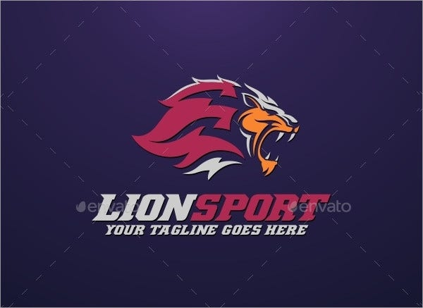Lion Sport Logo Template