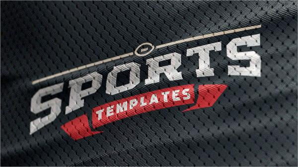 Sports Jersey Texture PSD Logo