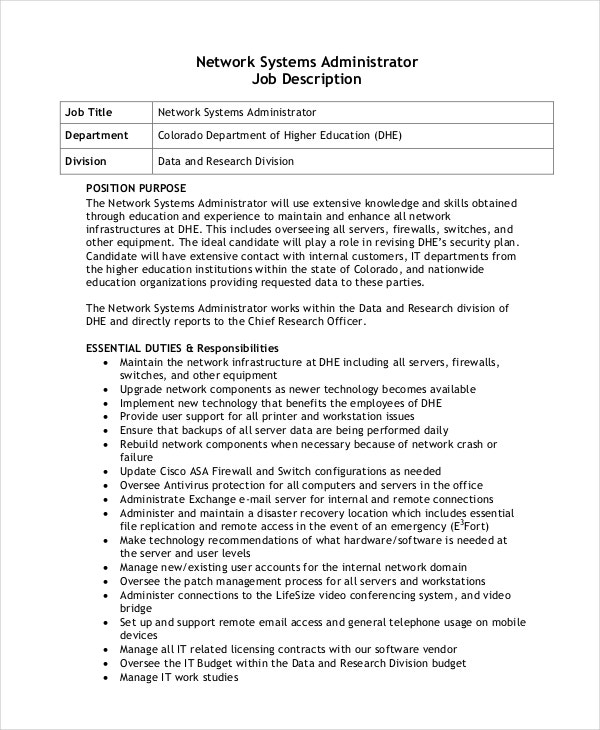 network-system-administrator-job-description-free-download