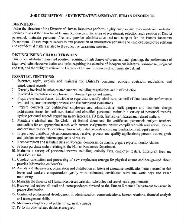 Hr Admin Assistant Cover Letter Cover Letter For A Hr Assistant